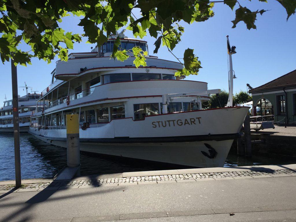 """Eine Fahrt rund um den Bodensee gehörte dieses Mal ebenfalls zu unserem Kurzurlaub dazu. Hier  die """"Stuttgart"""" im Hafen von Konstanz"""