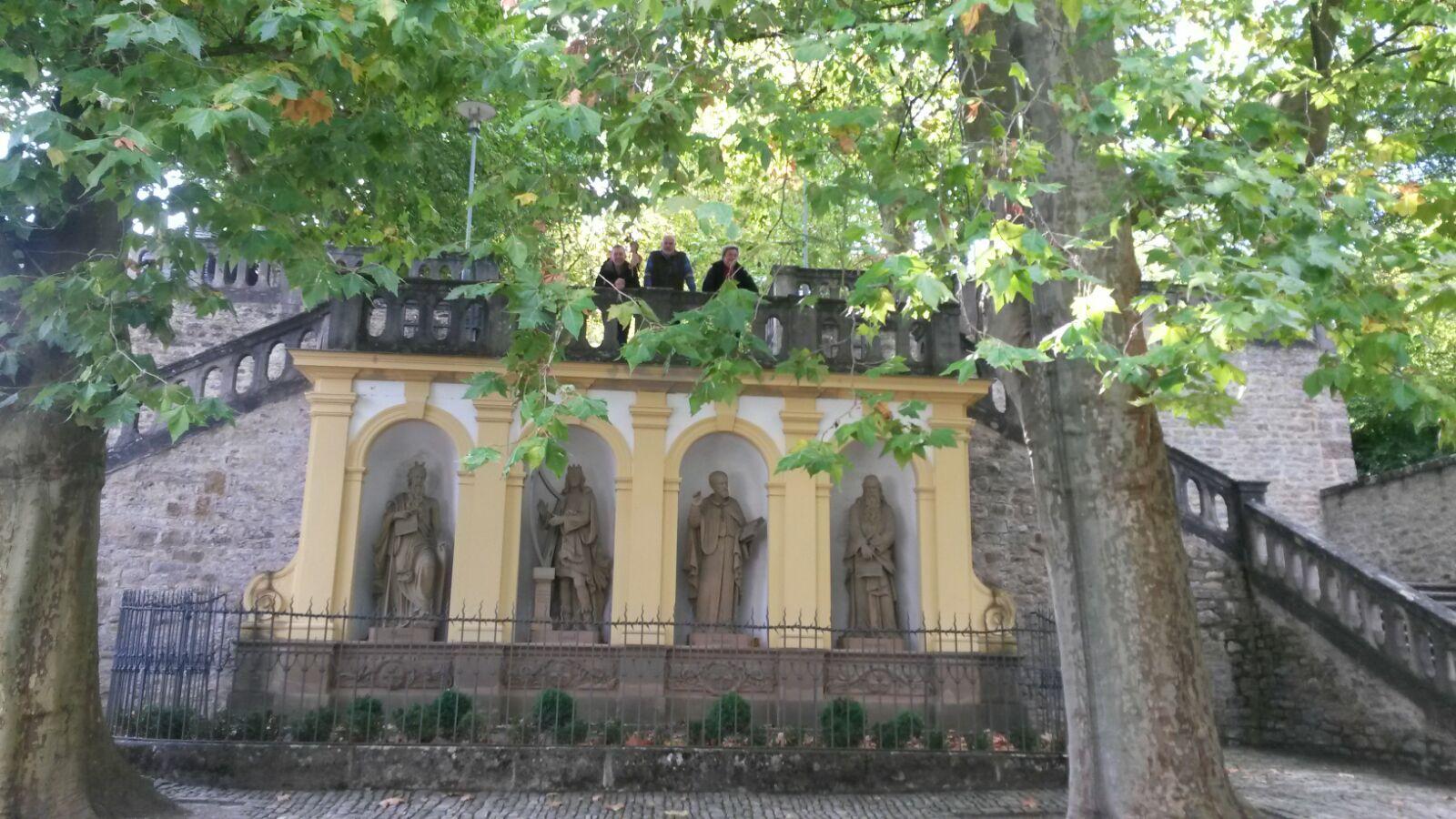 Die 4 Propheten am Stationenweg, eine der berühmten Sehenswürdigkeiten von Würzburg
