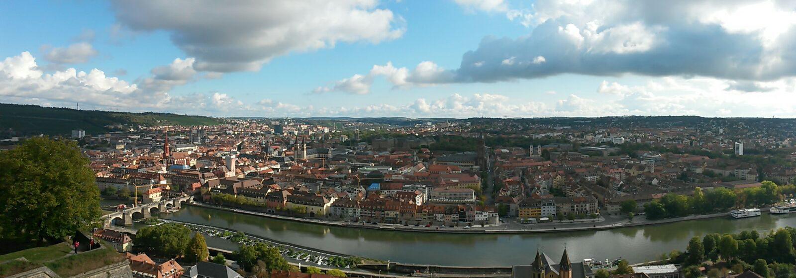 Blick auf Würzburg mit Main