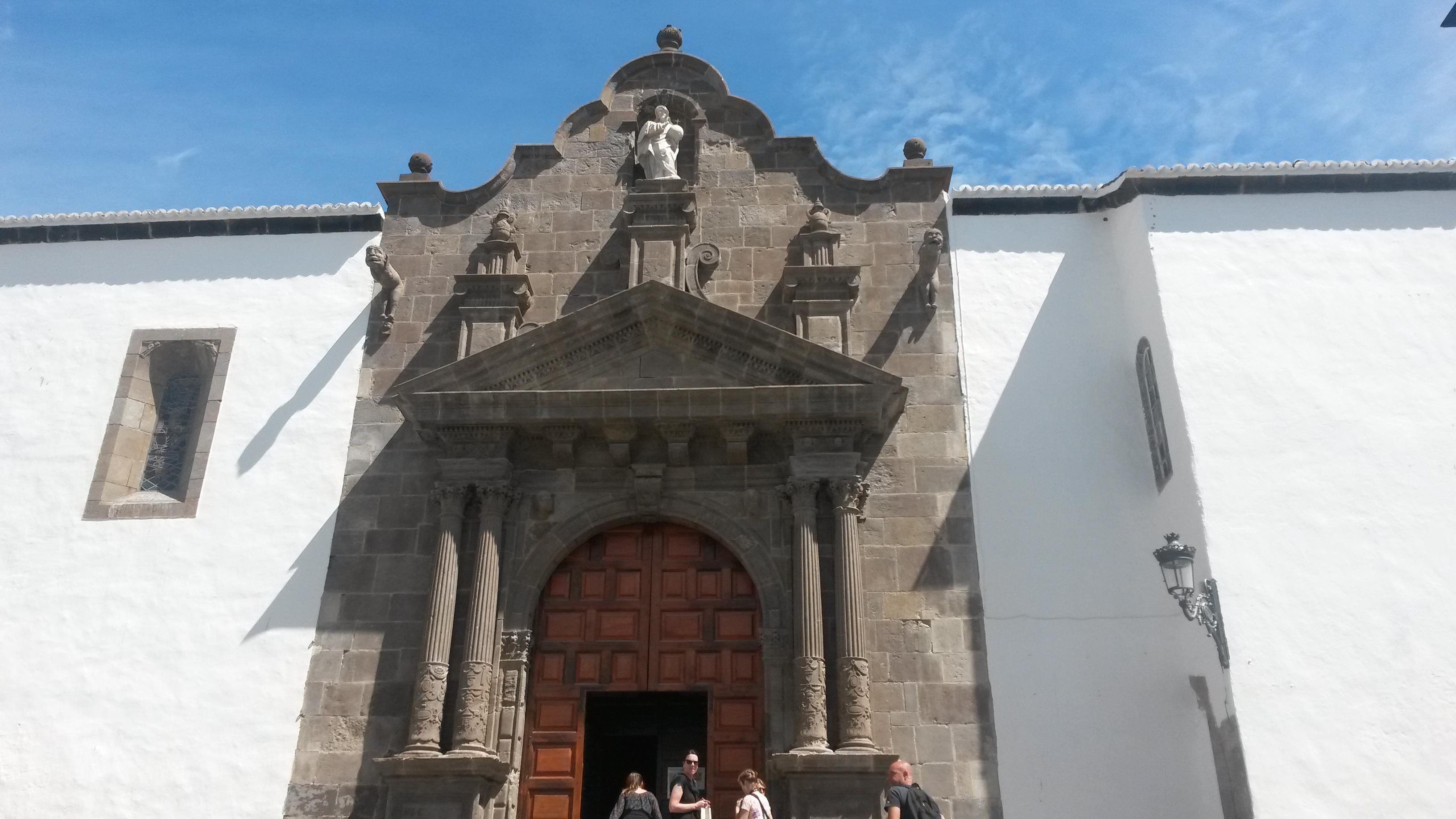 Portal Die Iglesia de El Salvador Santa Cruz de La Palma, eine der bekanntesten Sehenswürdigkeiten