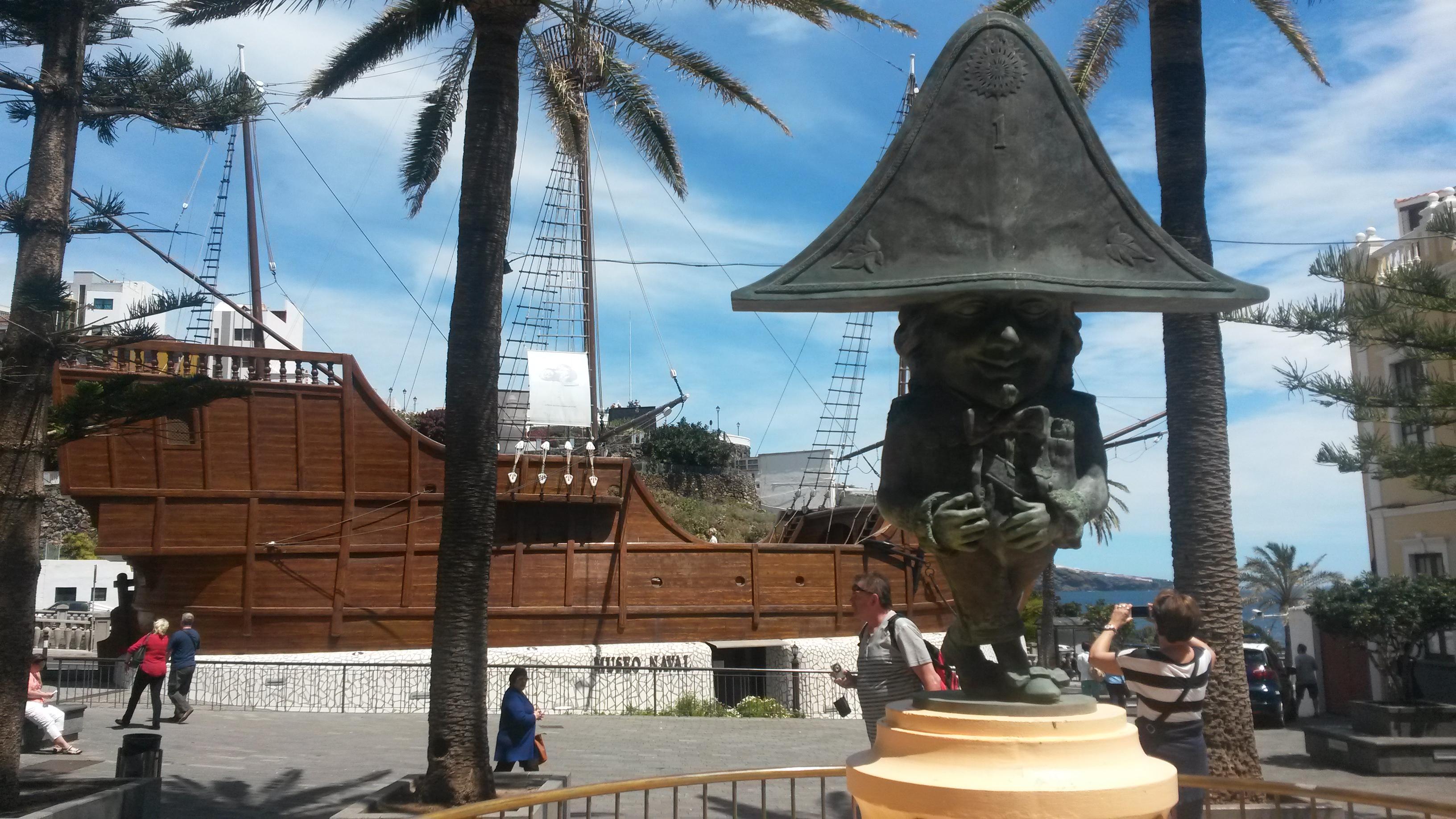 Das Museumsschiff Santa Maria in Santa Cruz de La Palma