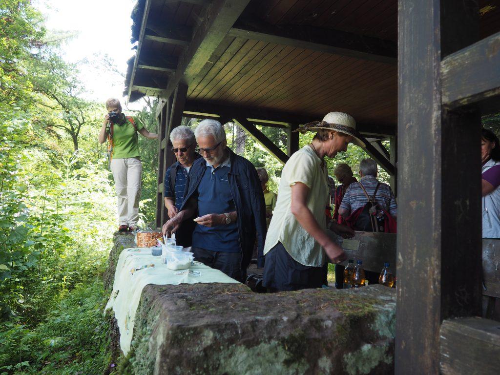 1. Rast in der Scheffelhütte bei meiner kulinarischen Wanderung im Teinachtal