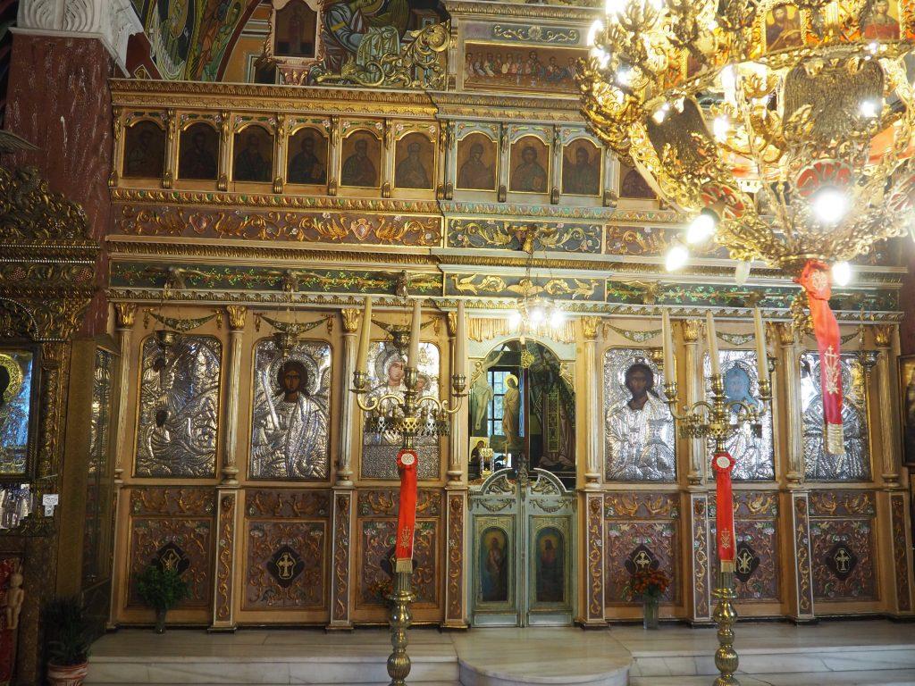 Wunderschön gestaltete Dorfkirche in Siana, einem hübschen Bergdorf auf Rhodos