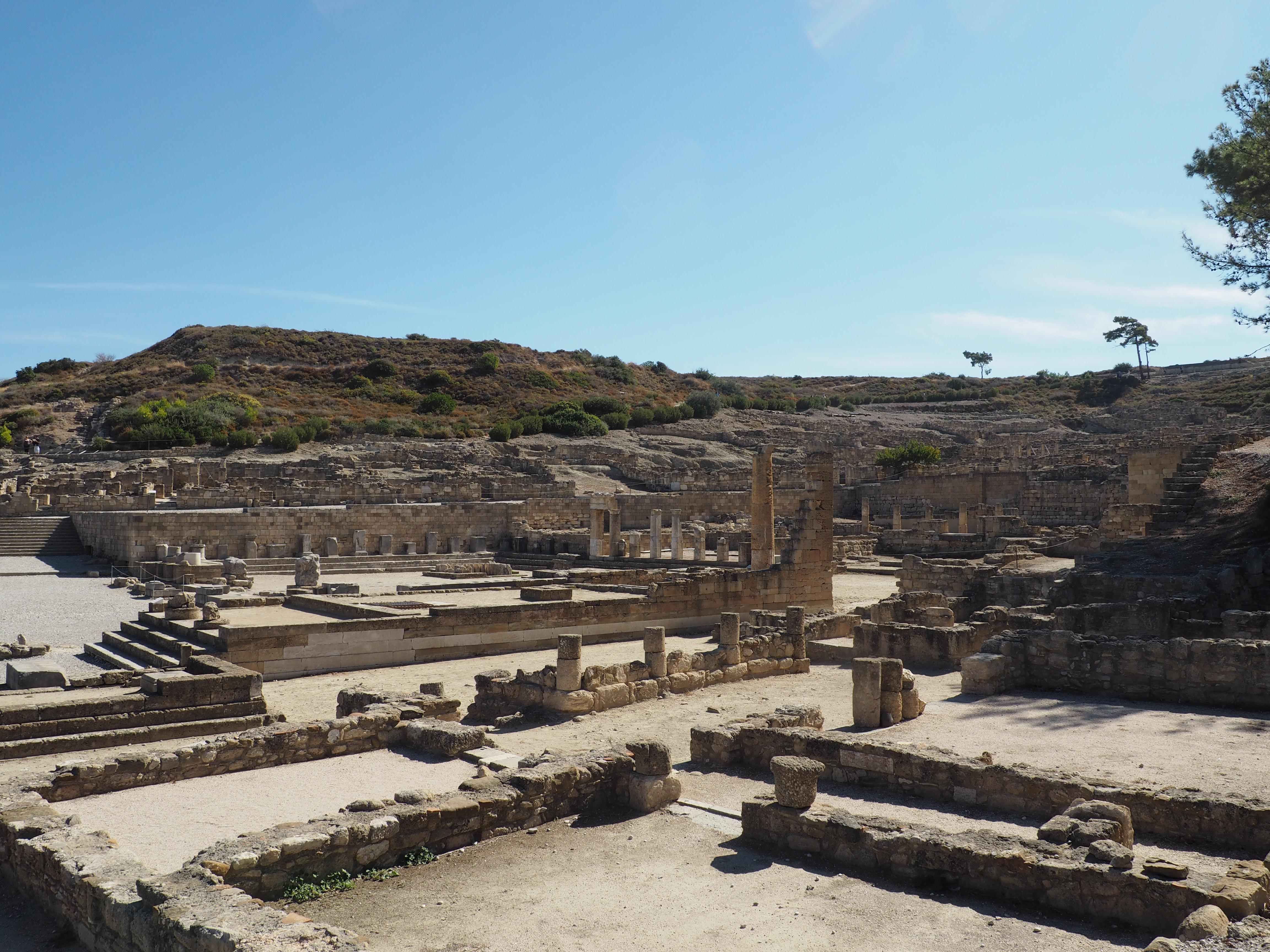 Überreste der antiken Stadt Kamiros auf Rhodos