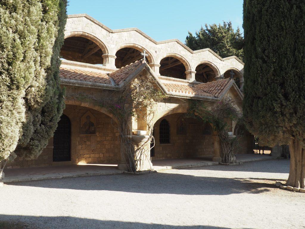 Byzantinisches Kloster auf dem Berg Philerimos, eine der bekanntesten Sehenswürdigkeiten auf Rhodos