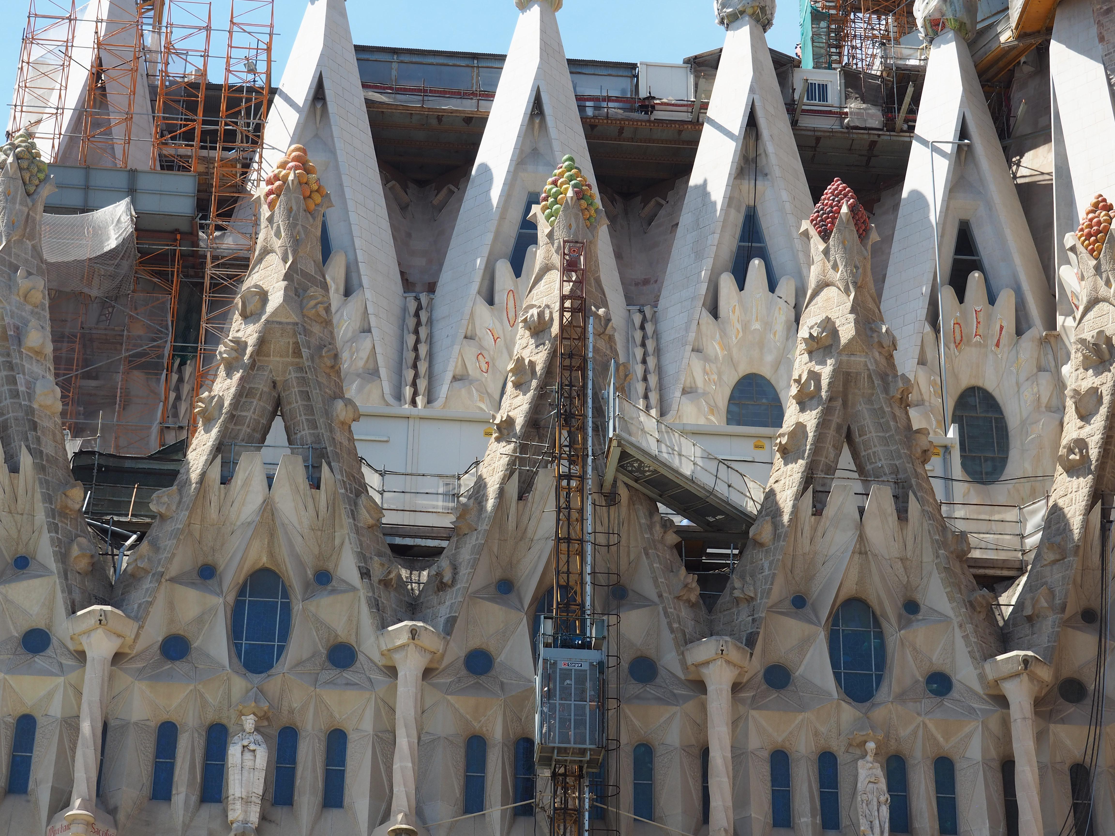 Fassadenausschnitt der Sagrada Familia in Barcelona