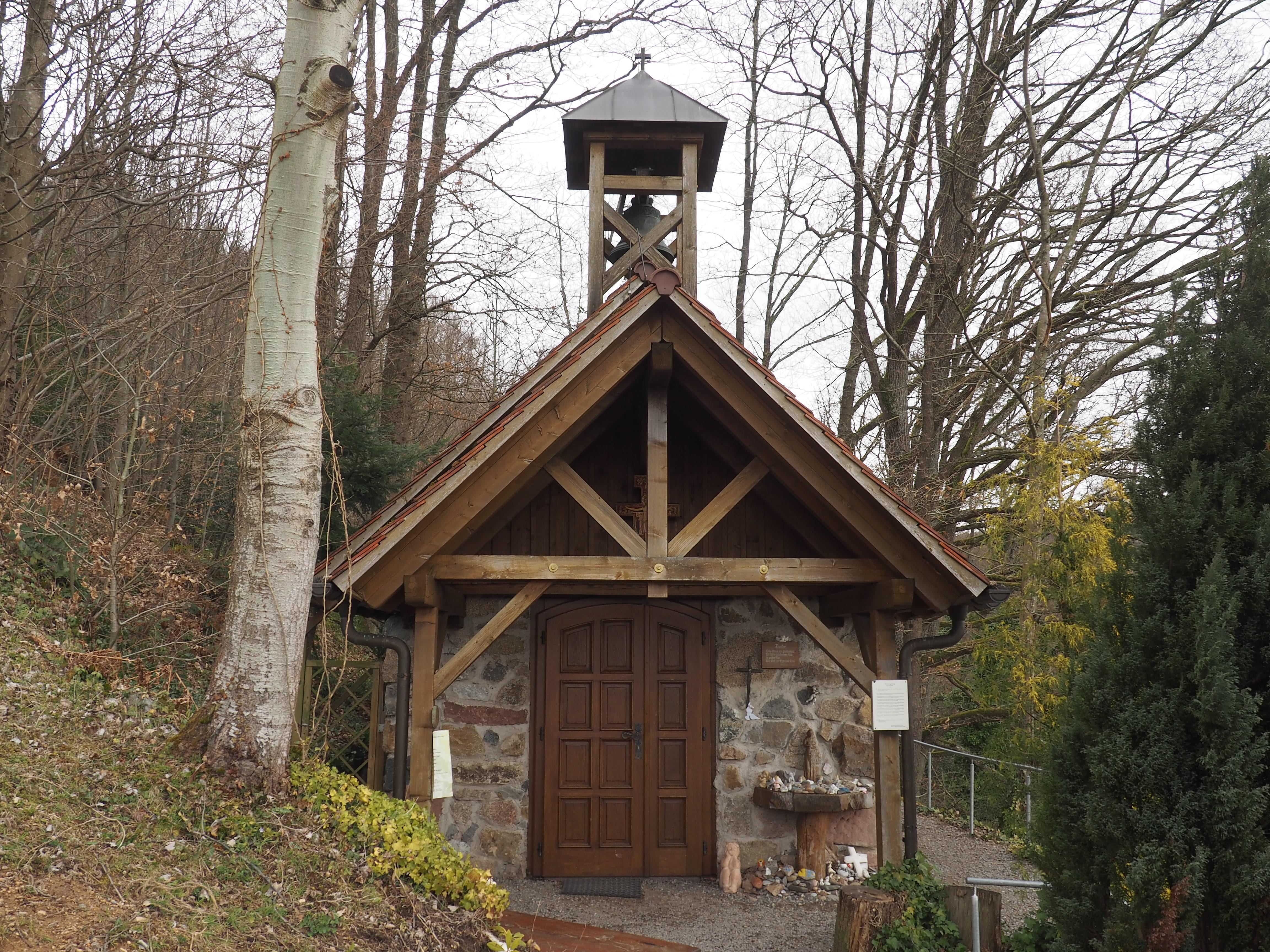 Portiunkula Kapelle am Weg des Tälerpfades in den Weinbergen von Gengenbach