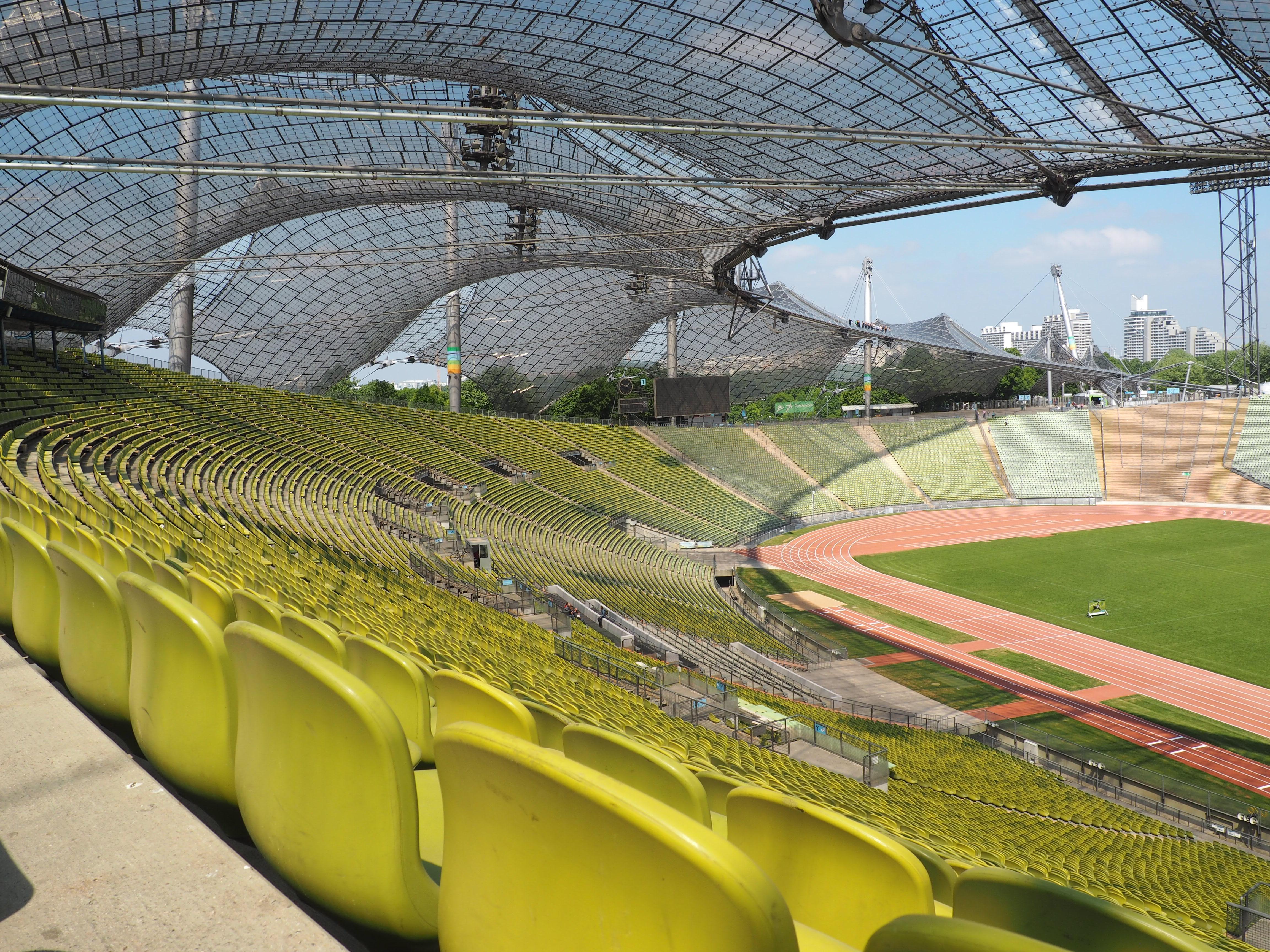 Beeindruckendes Olympiastadion in München