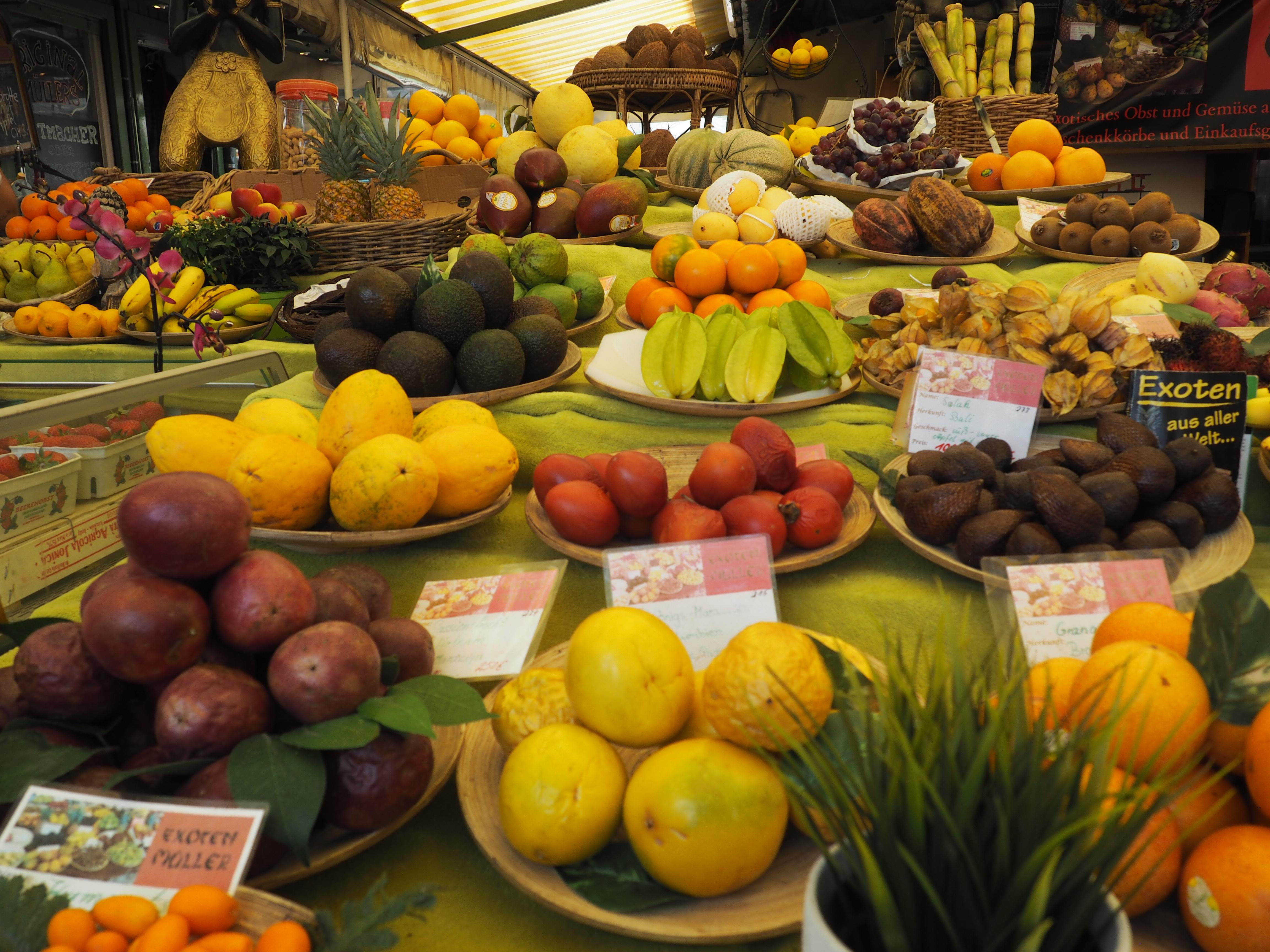 Vitamine, soweit das AUge reicht! Impressionen vom Viktualienmarkt in München