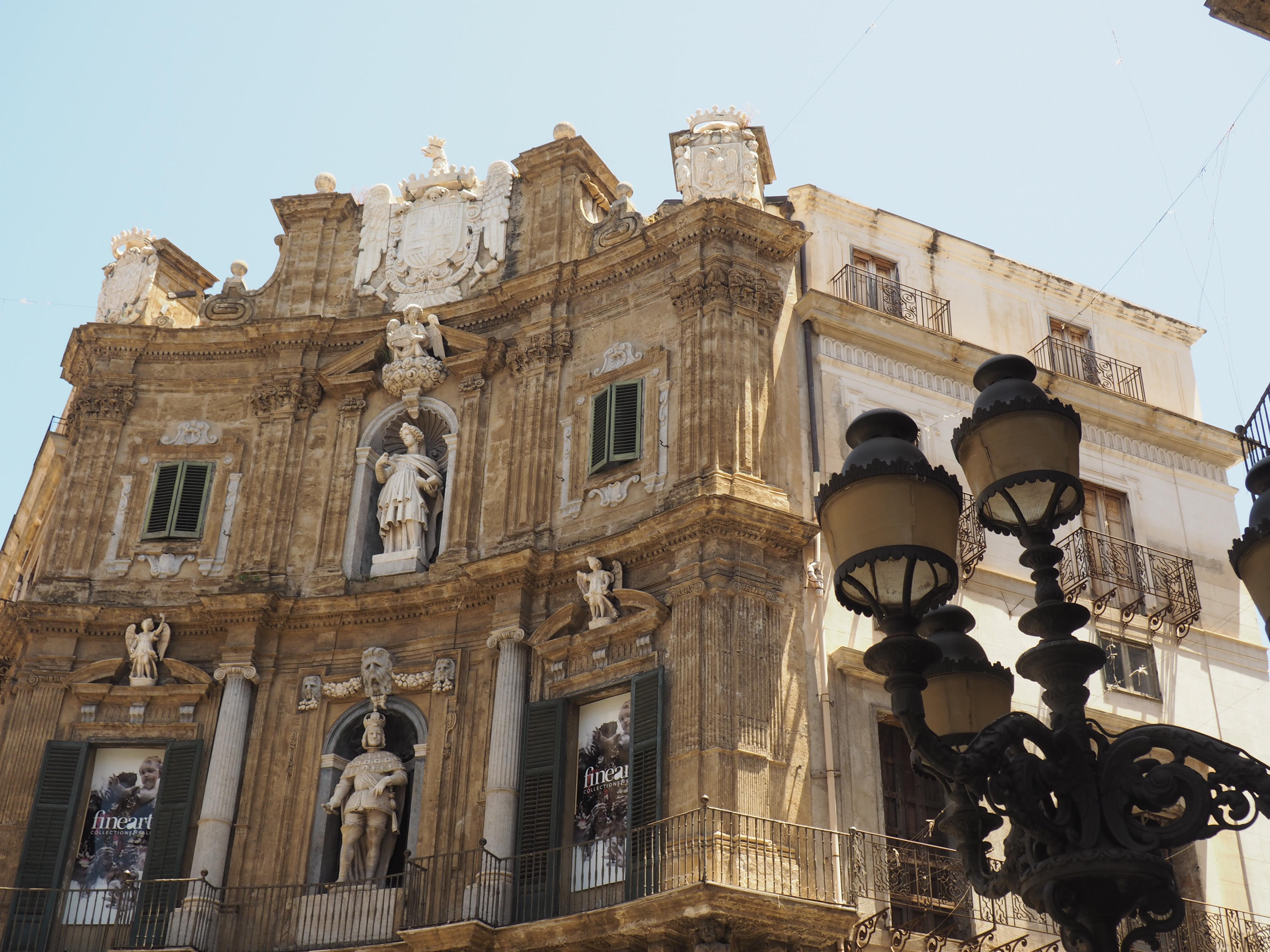 Palazzo am Quattro Canti, dem schönsten Platz Palermos