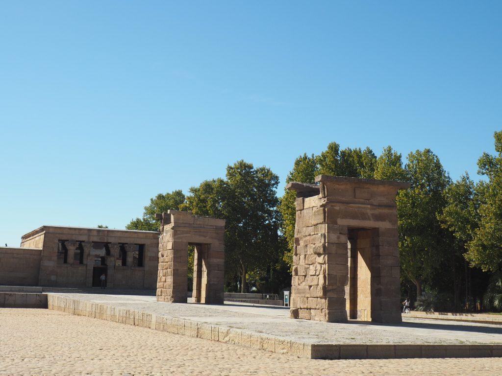 Templo de Debod Madrid, ein alter ägytischer Tempel