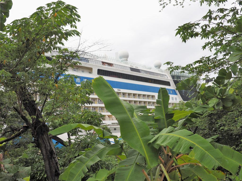 AIDALuna im Hafen von Mahogany Bay, Roatan Kreuzfahrtausflug auf eigene Faust