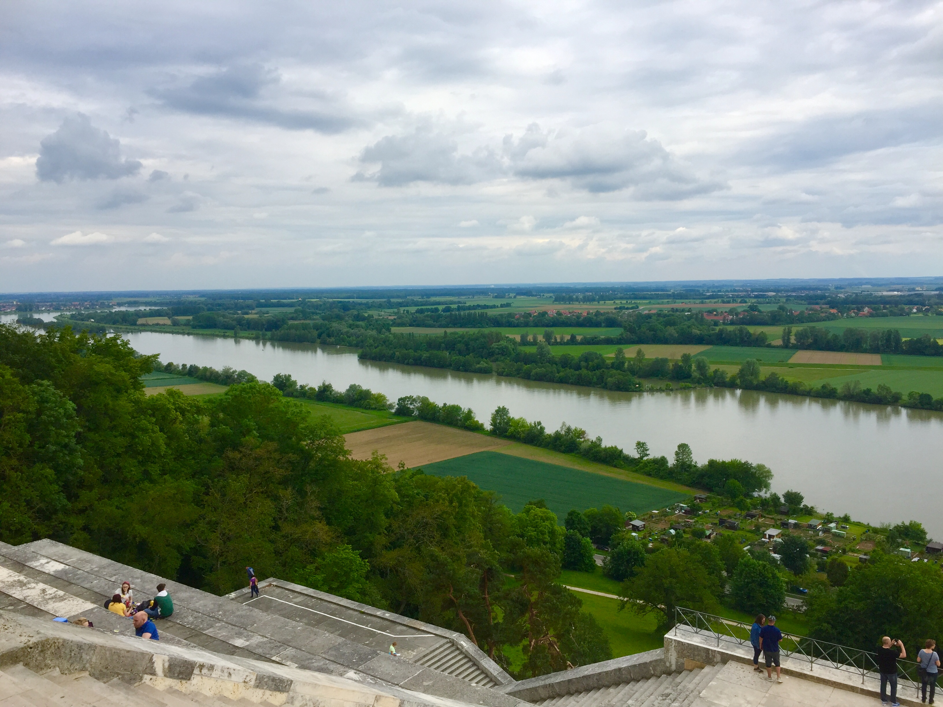 Sensationelle Ausblick auf die Donau von der Walhalla
