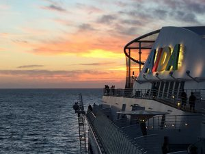 Seetag Kreuzfahrt, Sonnenuntergang