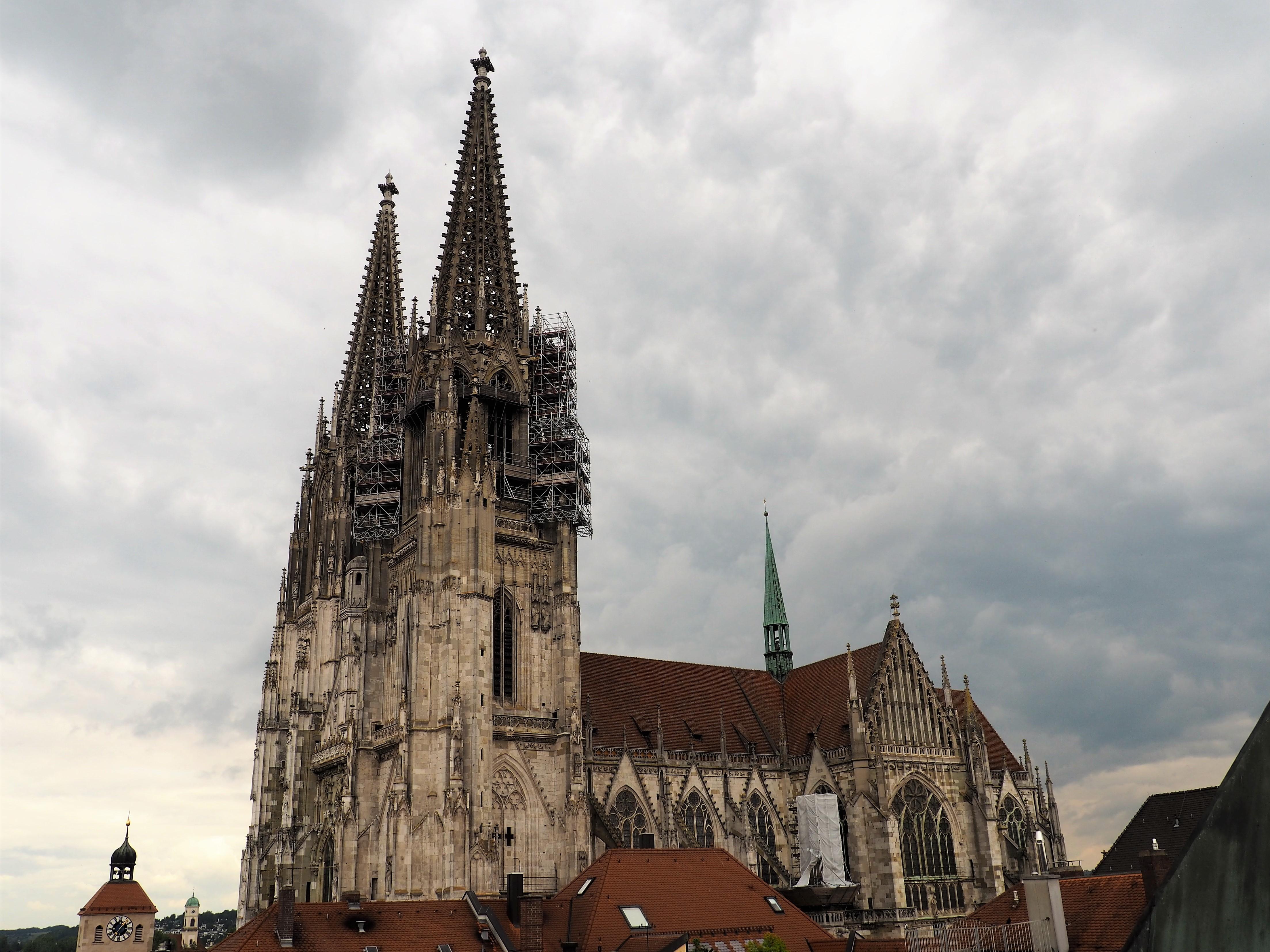 Blick auf den Dom in Regensburg
