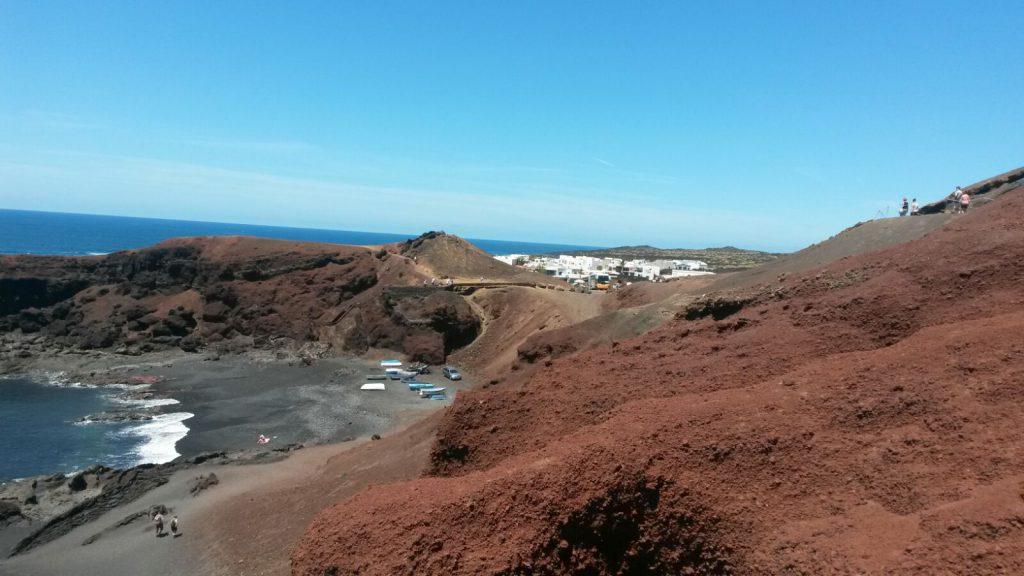 Malerische Bucht bei El Golfo, Kreuzfahrtausflug Lanzarote