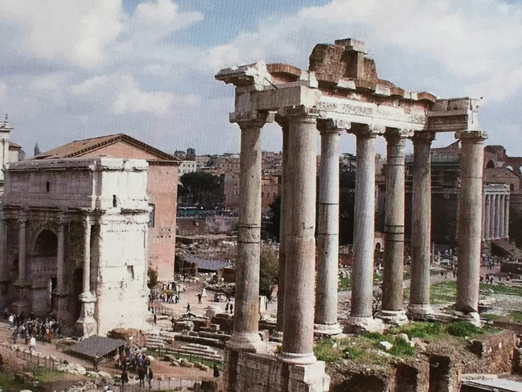 Forum Romanum in Rom Bild aus dem Jahr 1995