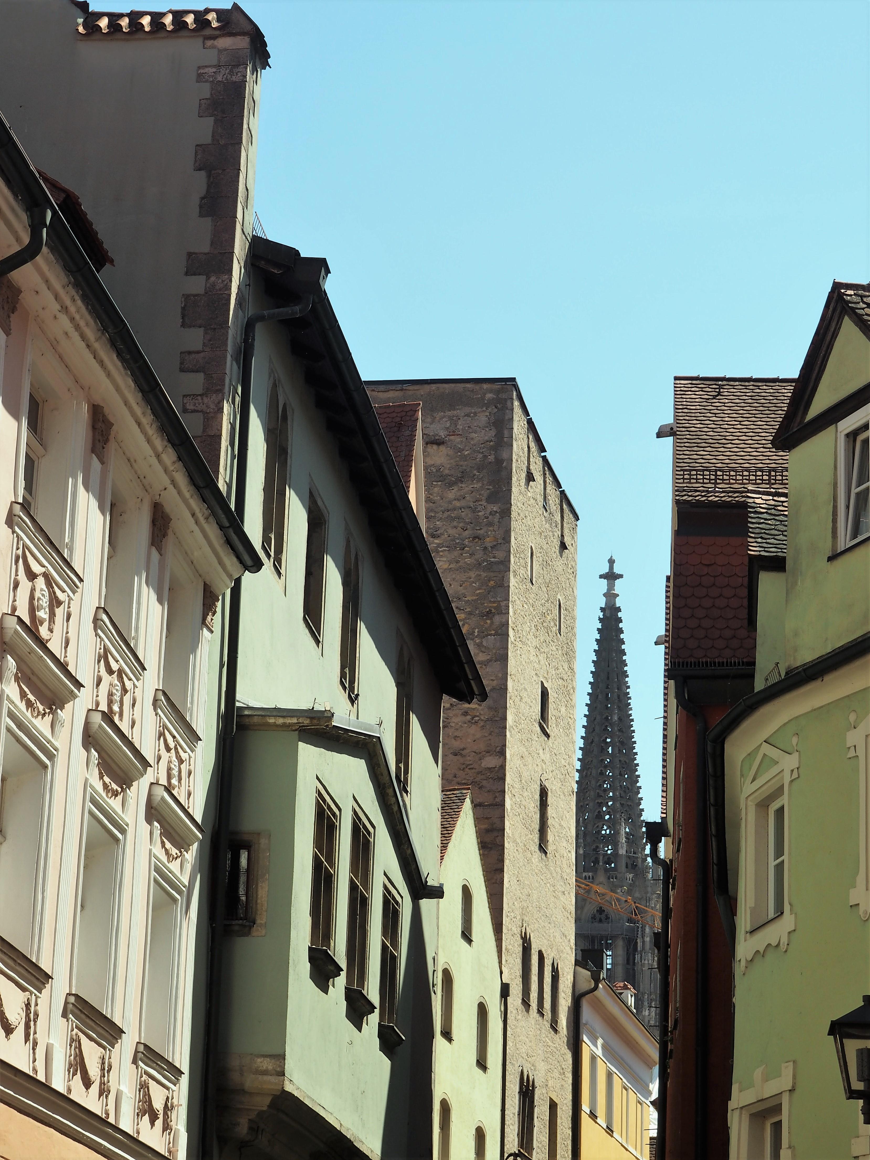 Immer wieder ein Blick auf den Dom in Regensburg