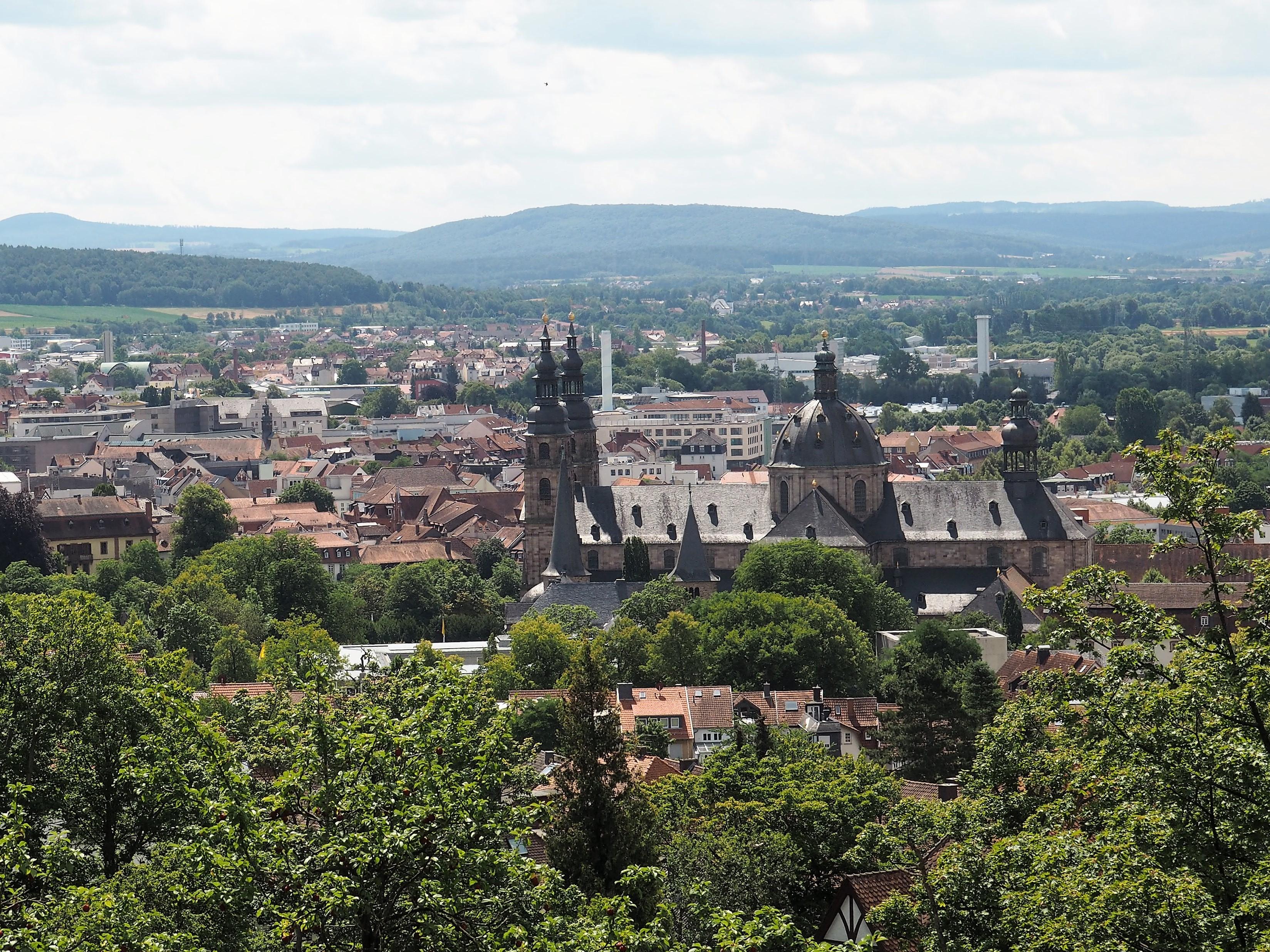 Aussicht auf den Dom vom Kloster Frauenberg