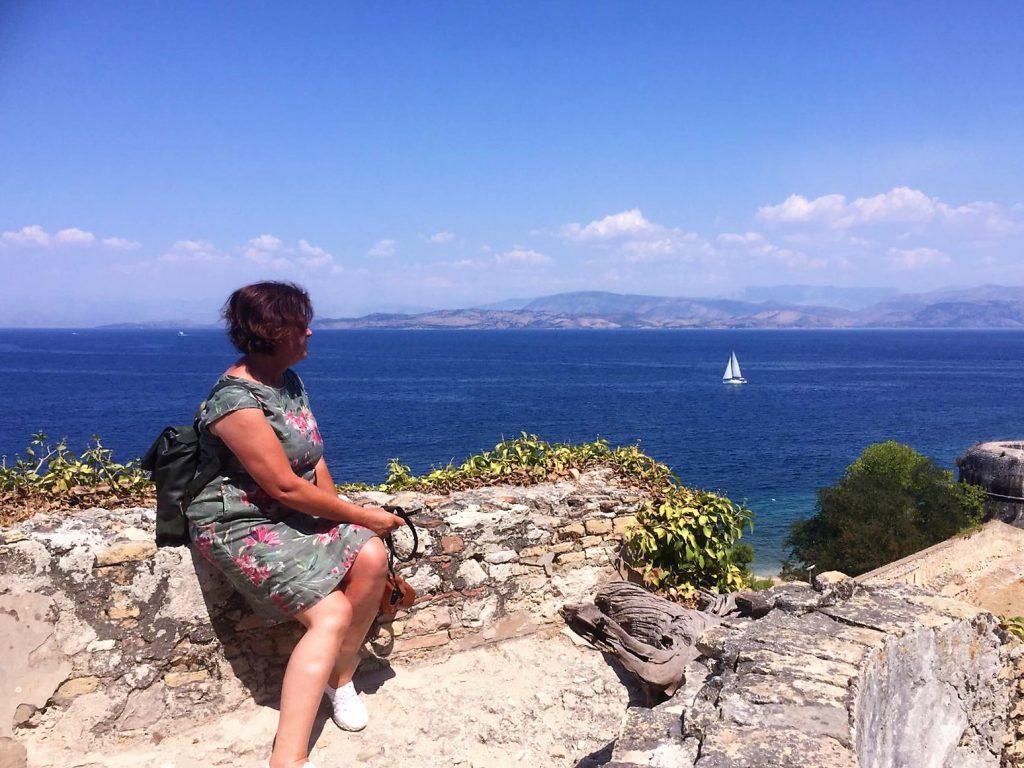 Fantastischer Blick von der alten Festung auf Korfu