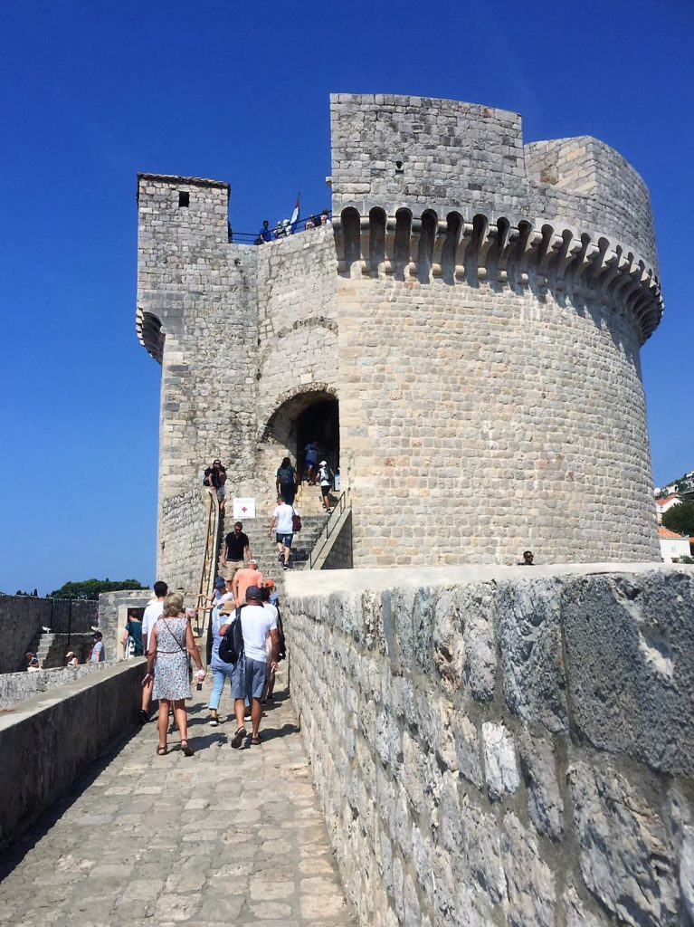 Wehrturm auf der Stadtmauer von Dubrovnik