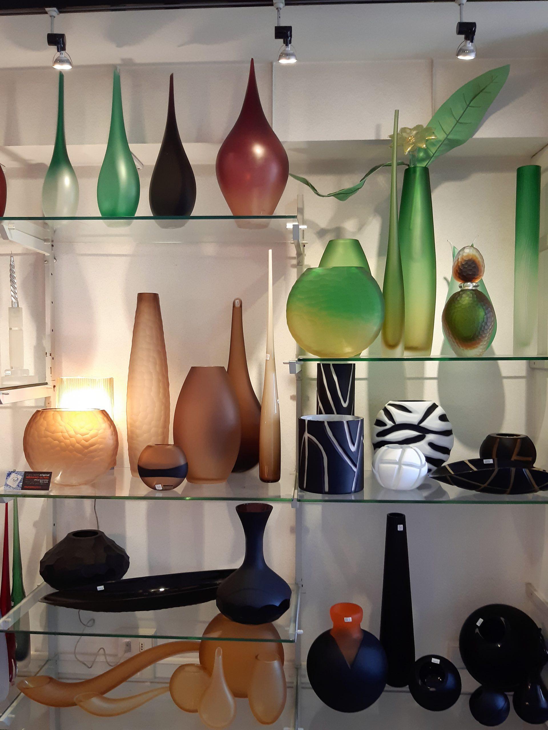 Kunstvolle Glasvasen aus Murano