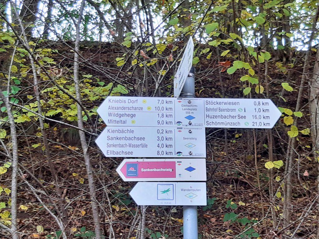 Wanderschild Sankenbachsteig Baiersbronn