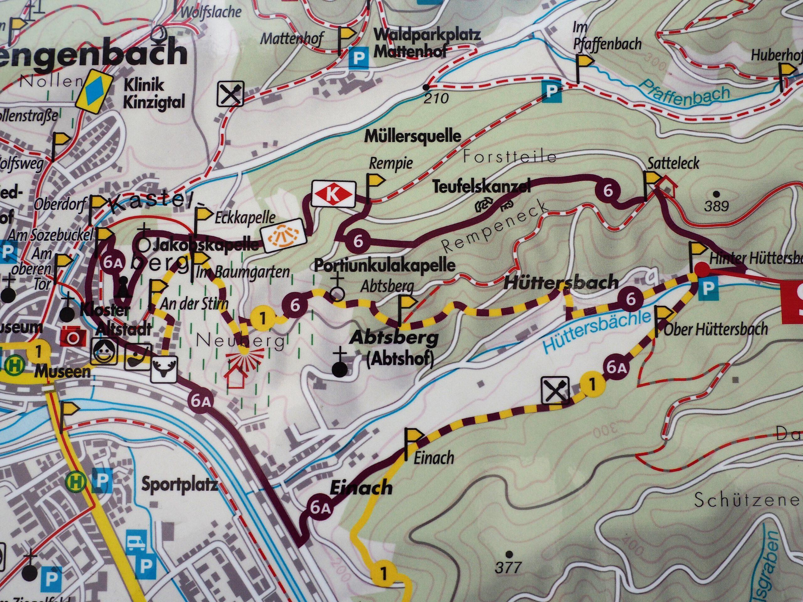 Route Tälerpfad Gengenbach